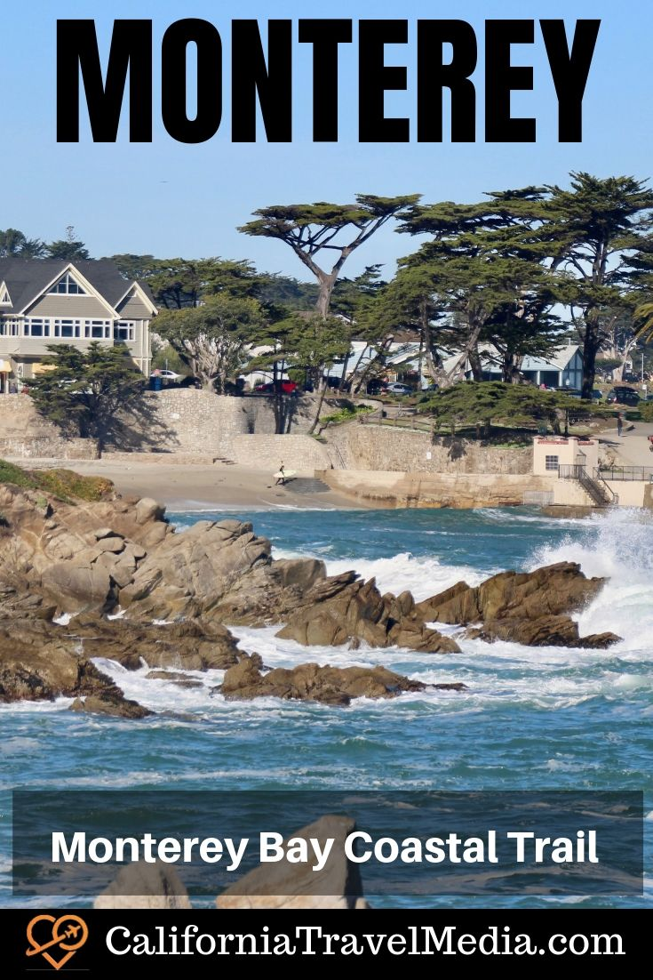 Monterey Bay Coastal Trail – Monterey and Pacific Grove, California, walking or biking between Lover's Point and Fisherman's Wharf. What do see. Where to sleep, eat and shop. #travel #trip #vacation #california #monterey #pacific-grove #monterey-bay #cannery-row #aquarium #food