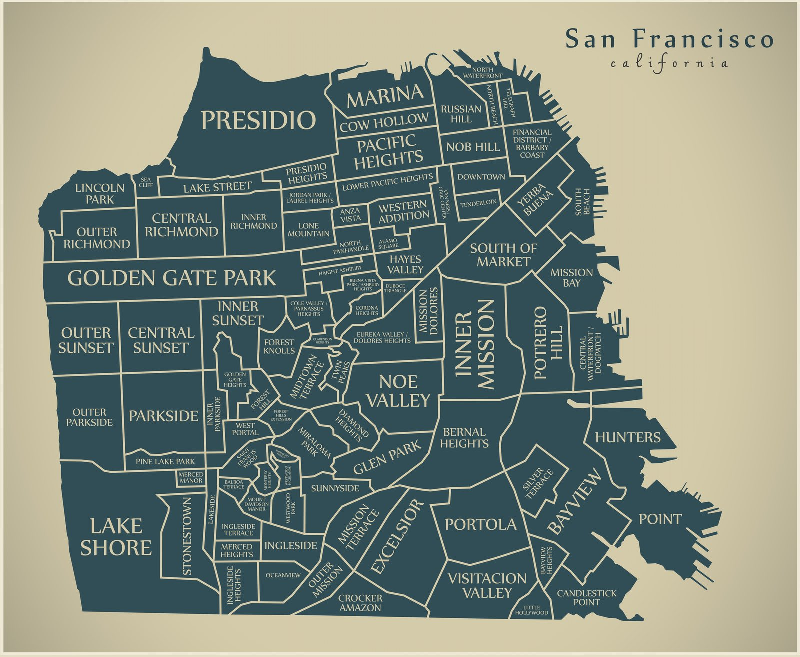 Map Of San Francisco By Neighborhood And What To See By Neighborhood California Travel