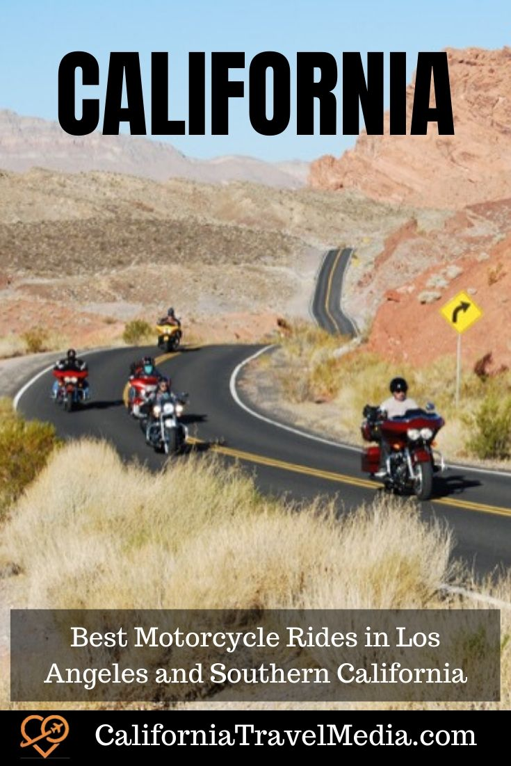 Best Motorcycle Rides in Los Angeles and Southern California #california #socal #motorcycle #ride #road-trip #travel #trip #vacation #pch #malibu #death-valley #motorcycle