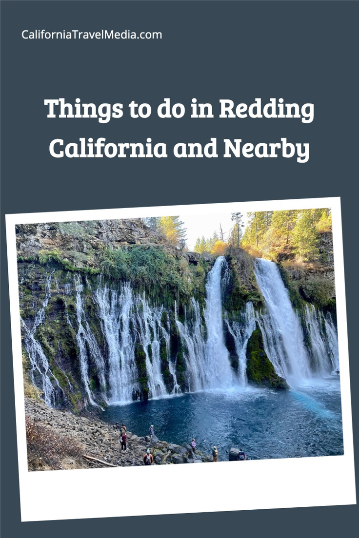 Things to do in and near Redding California include Lassen Volcanic National Park, Lake Shasta Caverns, and a 5 Waterfall Drive including McArthur-Burney Falls #california #usa #travel #trip #vacation #lassen #volcano #McArthur-Burney-Falls #waterfalls #cave #cavenrs #shasta-lake-caverns #sundial-bridge #national-park