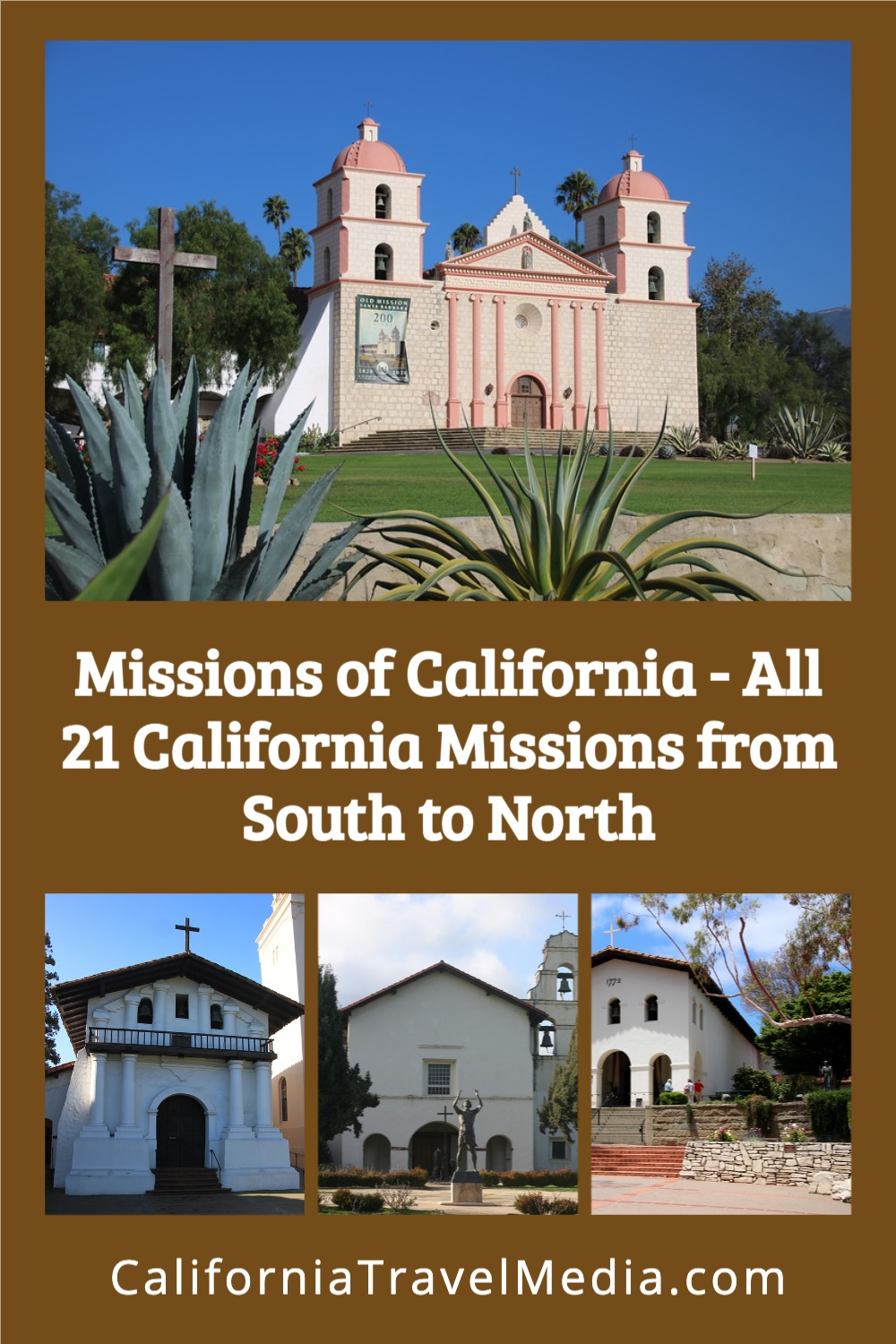 Missions of California with Map - All 21 California Missions from South to North #california #missions #history #spanish #father-serra #places #map
